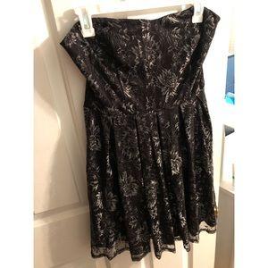 Black Strapless Holiday Dress